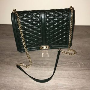 Rebekah Minkoff Green Leather Quilted Bag